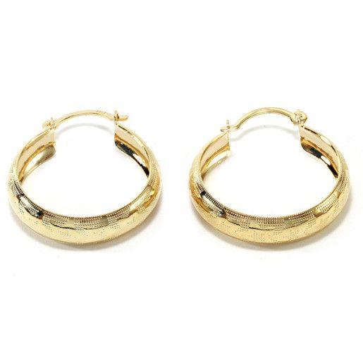 Cercei placati cu aur, colectia Golden Shine-6737O817
