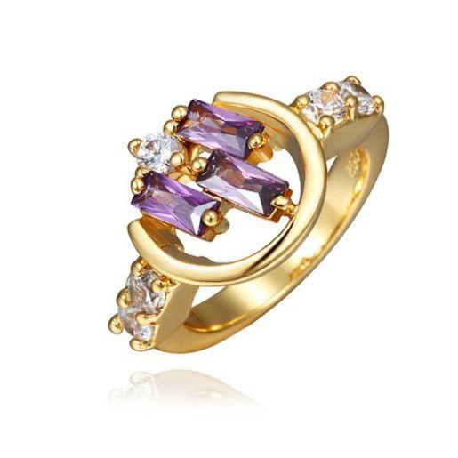 Pink style, inel placat cu aur de 18 k