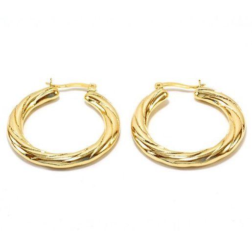Cercei placati cu aur, colectia Golden Shine-6822O818