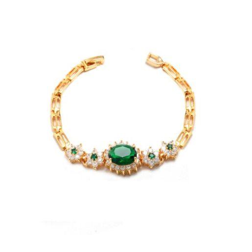 Emerald Line,bratara placata cu aur de 18 k, colectia Golden Shine