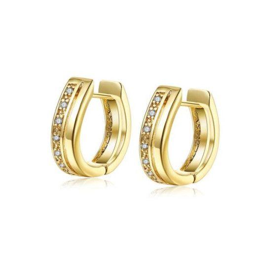 Cercei placati cu aur, colectia Golden Shine-6886O823