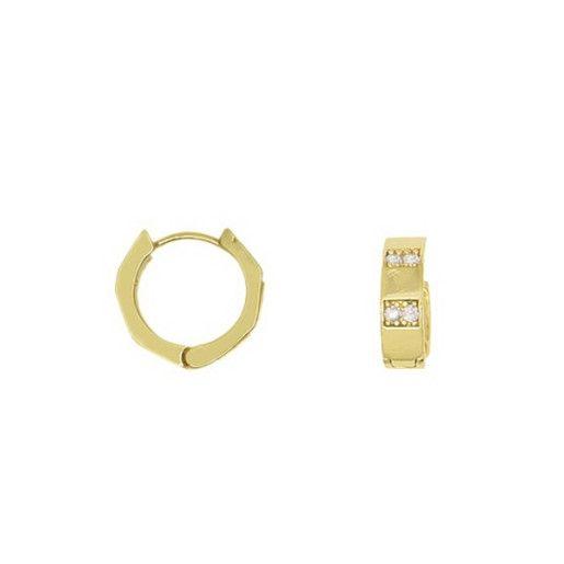 Cercei placati cu aur, colectia Golden Shine-6895O835