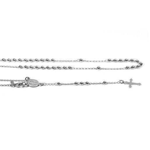 Rozariu argint 925, design italian pentru rugaciuni - 6917O375