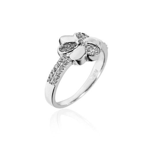 Marina, inel argint 925, model floral