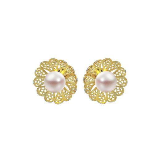 Cercei placati cu aur, colectia Golden Shine-6955O818