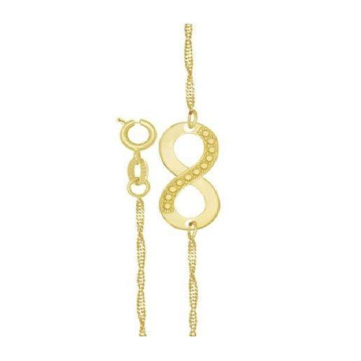 Infinity, bratara placata cu aur de 18 k, colectia Golden Shine
