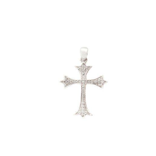 Pandantiv argint 925,rodiat , cu pietre zirconia