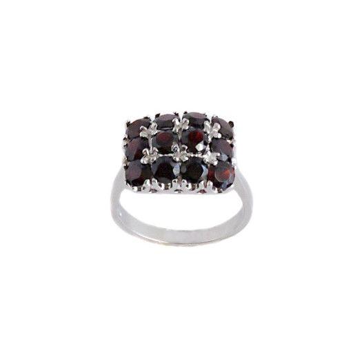 Garnet, inel argint 925, rodiat - 7014O959