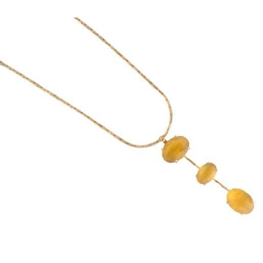 Colier placat cu aur, colectia Golden Shine-7049O3125