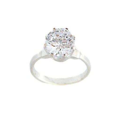 Inel de logodna model solitaire, argint 925 - 7053O930