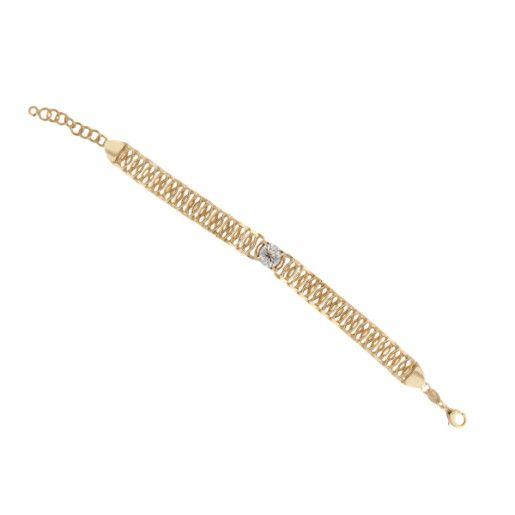 Luxury Dream, bratara placata cu aur de 18 k, colectia Golden Shine Brazil