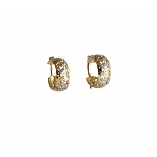 Cercei placati cu aur, colectia Golden Shine-7083O818
