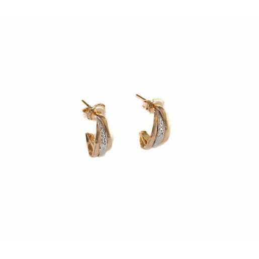 Cercei placati cu aur, colectia Golden Shine-7085O815