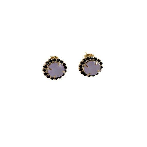 Cercei placati cu aur, colectia Golden Shine-7090O857