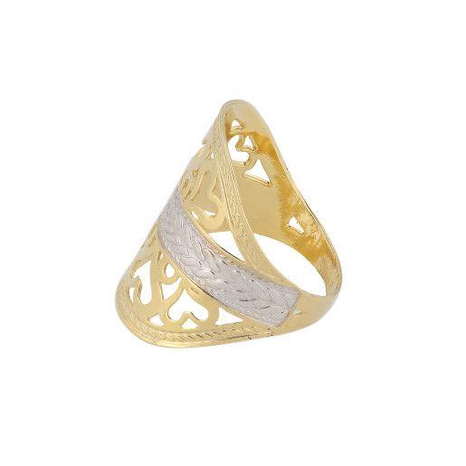 Betsy, inel placat cu aur de 18 k , productie Brazilia,
