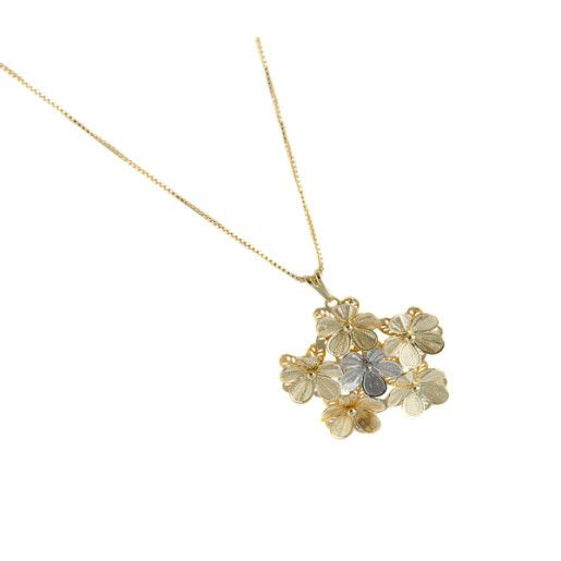 Colier placat cu aur, colectia Golden Shine-7116O345
