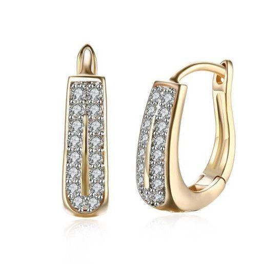 Cercei placati cu aur de 18 k ,colectia Golden Shine - 7131O823