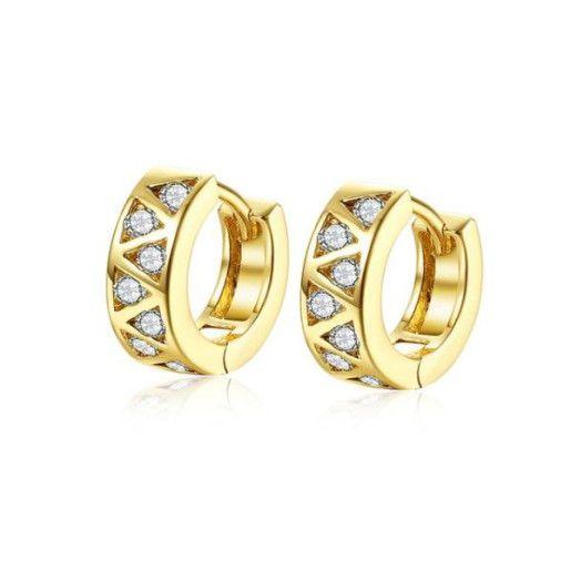 Cercei placati cu aur, colectia Golden Shine-7172O820