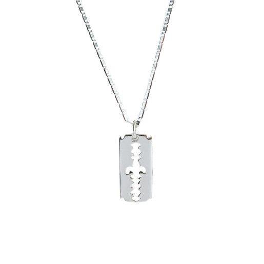 Lant de argint 925, rodiat, design italian - 7182O389