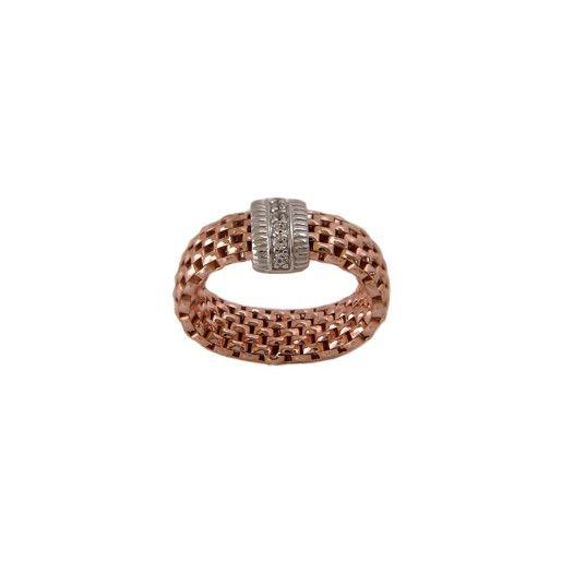 Rose ,inel argint 925, placat cu rodiu roz, design italian