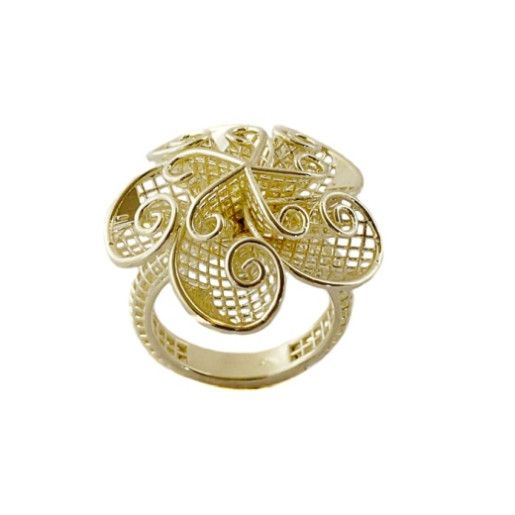Angeli, inel argint 925, model exclusiv, placat cu aur