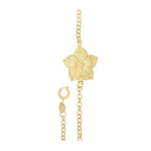 Mora, bratara placata cu aur de 18 k, colectia Golden Flower