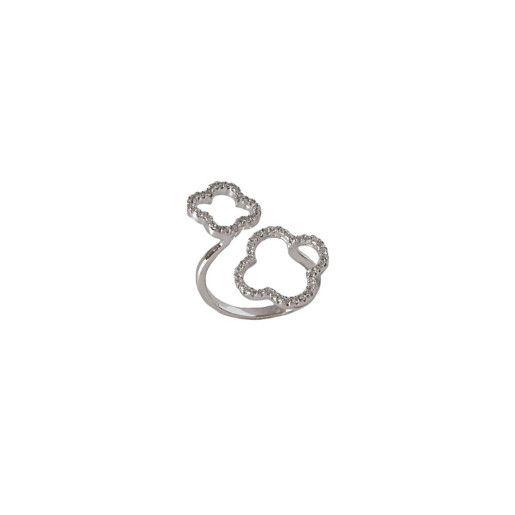 Inel argint 925, rodiat, cu pietricele zirconia montura micropave- 7261O929