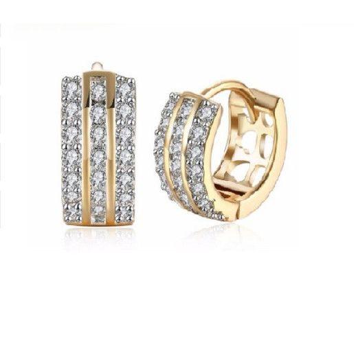 Cercei placati cu aur, colectia Golden Shine-7299O818