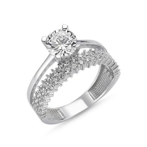 Harmony, inel argint 925, rodiat