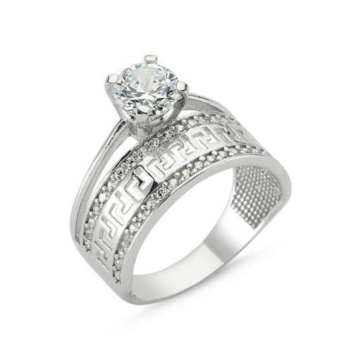 My dream, inel argint 925, rodiat, cu pietre zirconia mici montura micropave