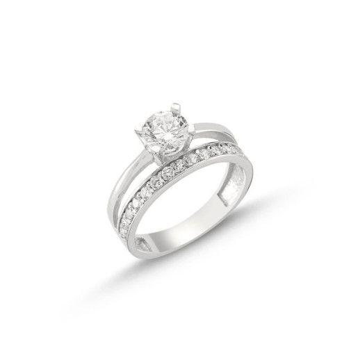 Simplicity, inel argint 925, rodiat, model inel logodna si verigheta 7309O930