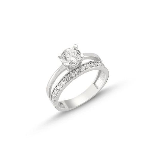 Simplicity, inel argint 925, roadiat, model inel logodna si verigheta 7309O930