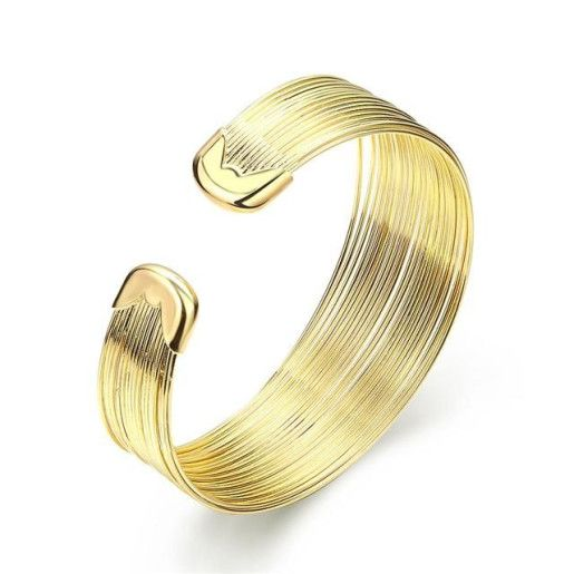 Modern style, bratara placata cu aur de 18 k