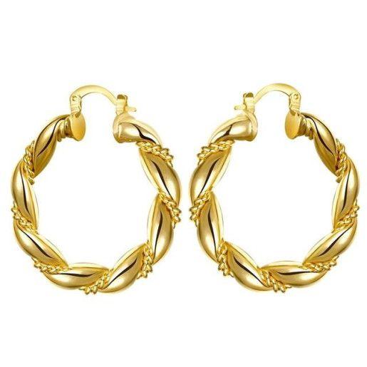 Cercei placati cu aur de 18 k, colectia Golden shine - 7317O816