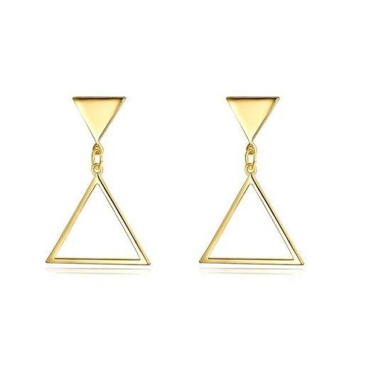 Geometry and style, cercei placati cu aur de 18 K