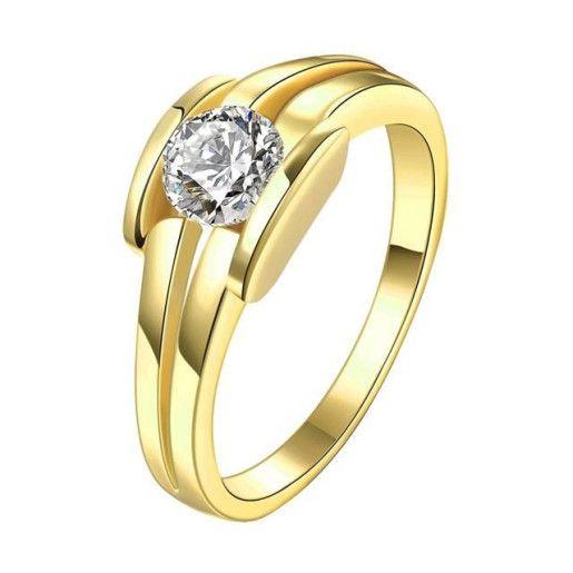 Inel placat cu aur de 18 K, colectia Golden Shine - 7325O918