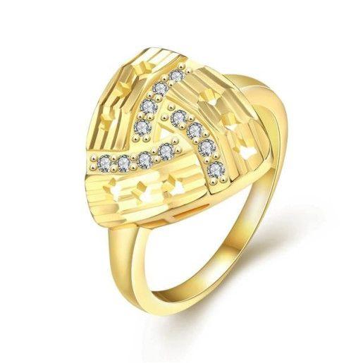 Inel placat cu aur de 18 K, colectia Golden Shine - 7328O922