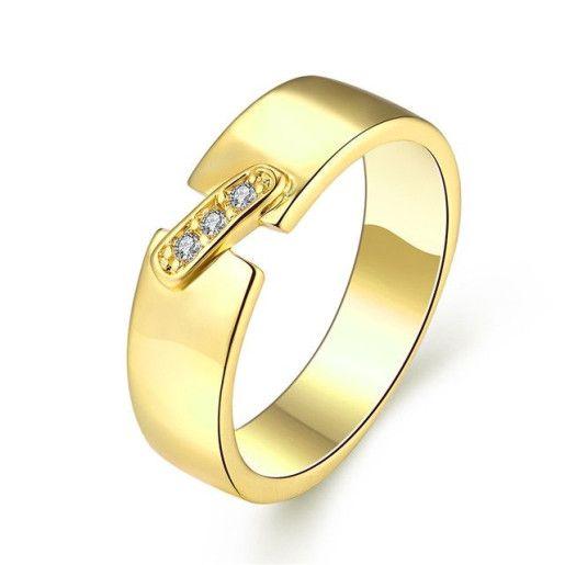 Silmply style, inel placat cu aur de 18 k - 7330O922
