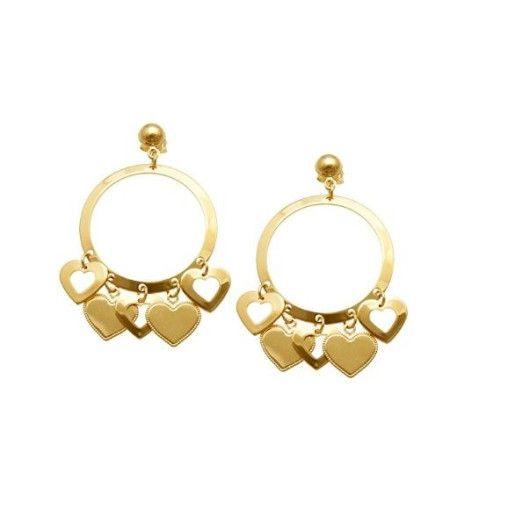 Cercei placati cu aur de 18 k, colectia Golden shine -7342O824