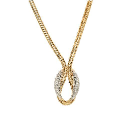 Colier placat cu aur de 18k, 2 microni, productie Brazilia , colectia lux, 7353O3105