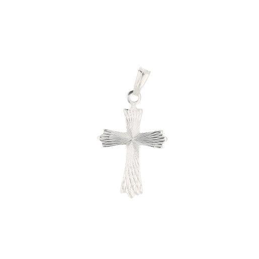 Pandantiv argint 925, motiv religios, rodiat - 7358O715