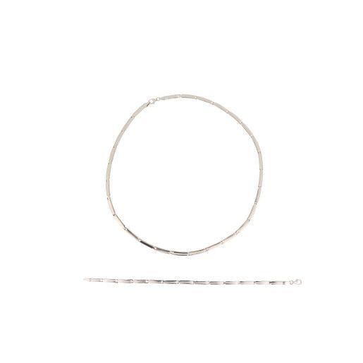 Set argint 925, rodiat, design clasic- 7381O5200