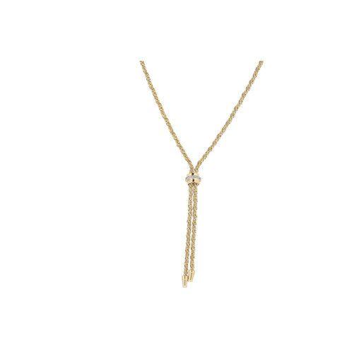 Colier placat cu aur de 18 k, colectia lux Brazilia, cu pietricele zirconia montura micropave - 7387O3110