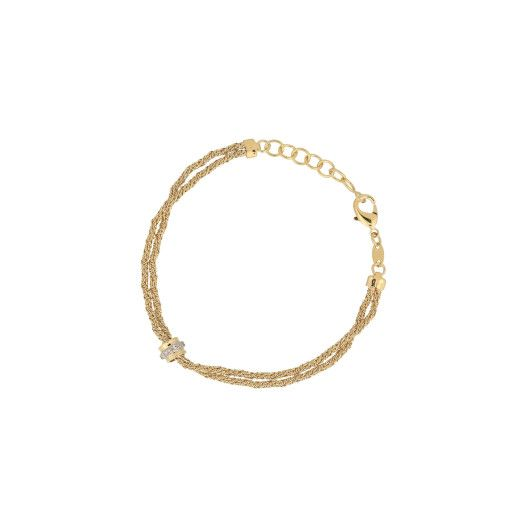 Bratara placata cu aur de 18 k, colectia lux Brazilia, cu pietricele zirconia montura micropave - 7388O499