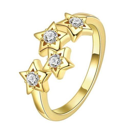 Inel placat cu aur de 18 k, cu cristale zirconia-7398O916