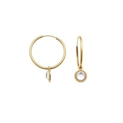 Cercei placati cu aur de 18 k,2 microni, productie  Brazilia, 7405O817