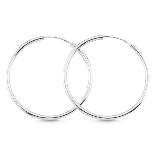 Cercei argint 925, rodiat,model creola simpla- 7430O819