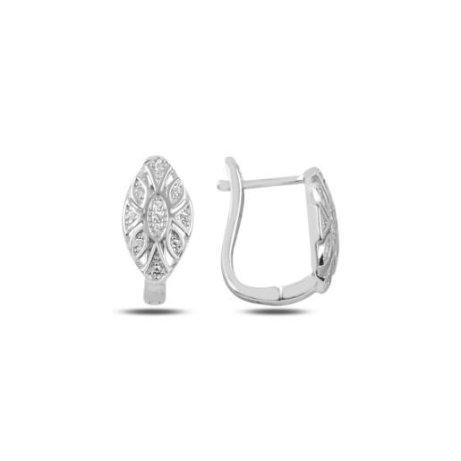 Cercei argint 925, rodiat, inchidere clasica- 7432829