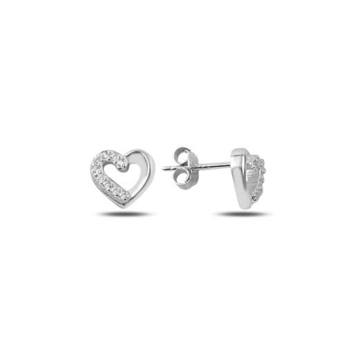 Cercei argint 925, rodiat,cu pietre zirconia, montura micropave - 7433O819