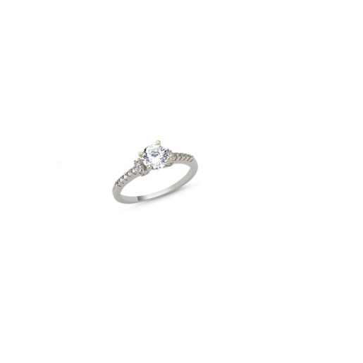 Inel argint 925, colectia solitair, rodiat, cu pietre zirconia montura micropave 7436O927